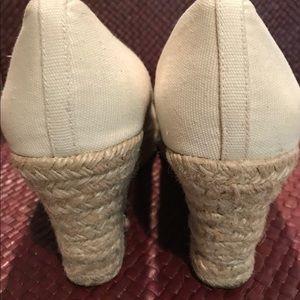 J. Crew Shoes - J Crew espadrilles, cream color 9 1/2